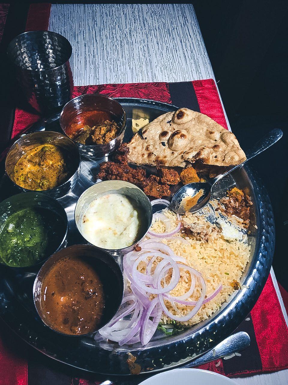 Garwhali Thali in Sterling Resorts