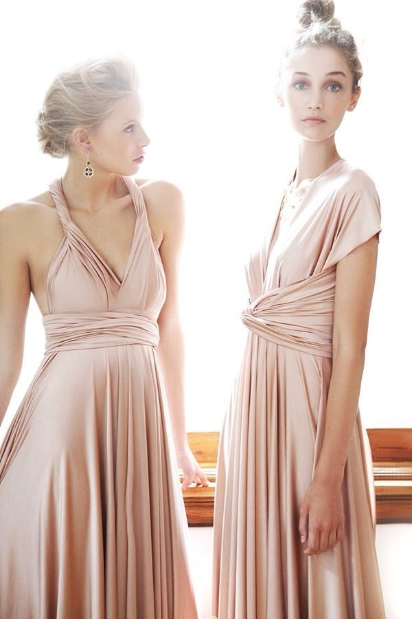 rose gold for bridesmaid