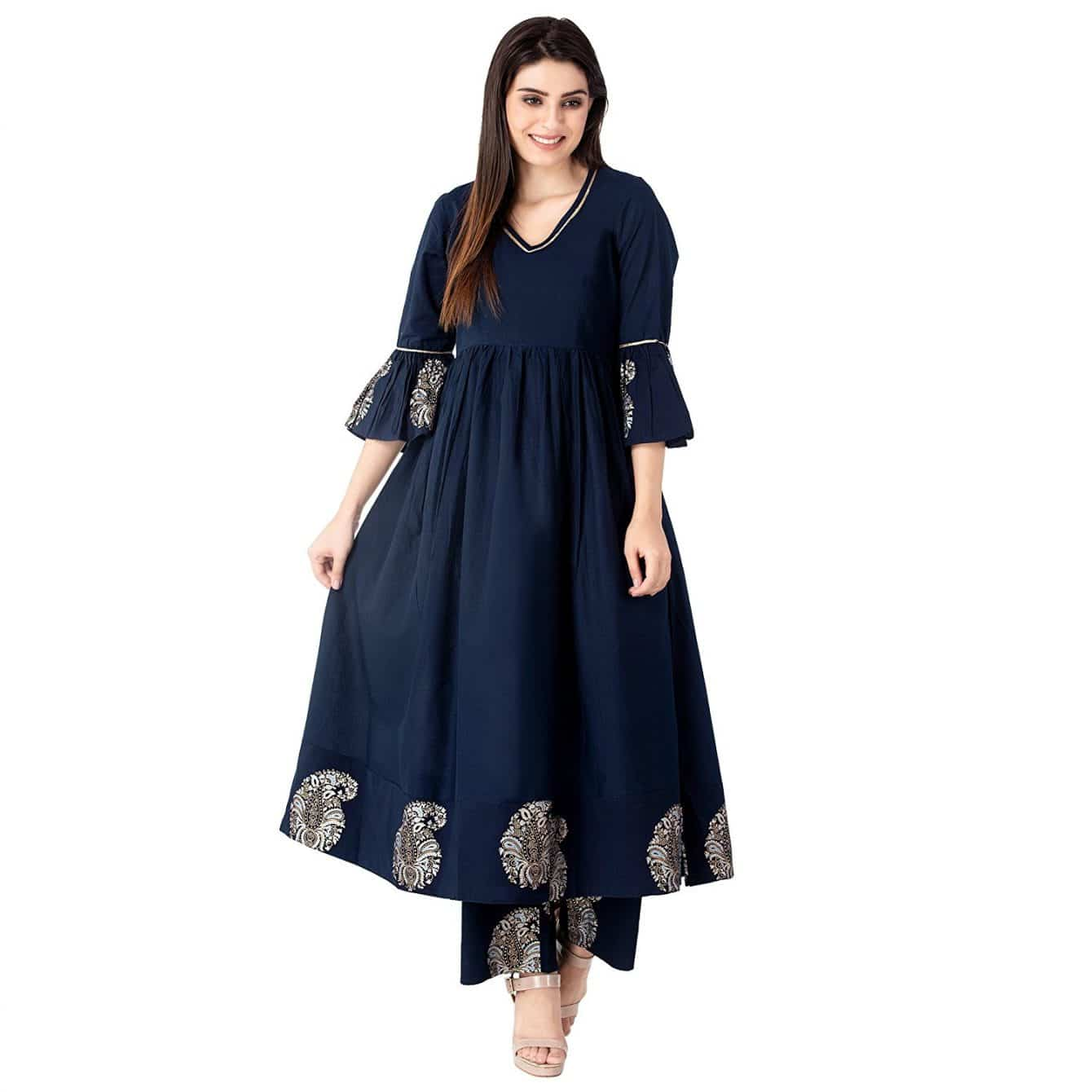 anarkali with pants indian suit
