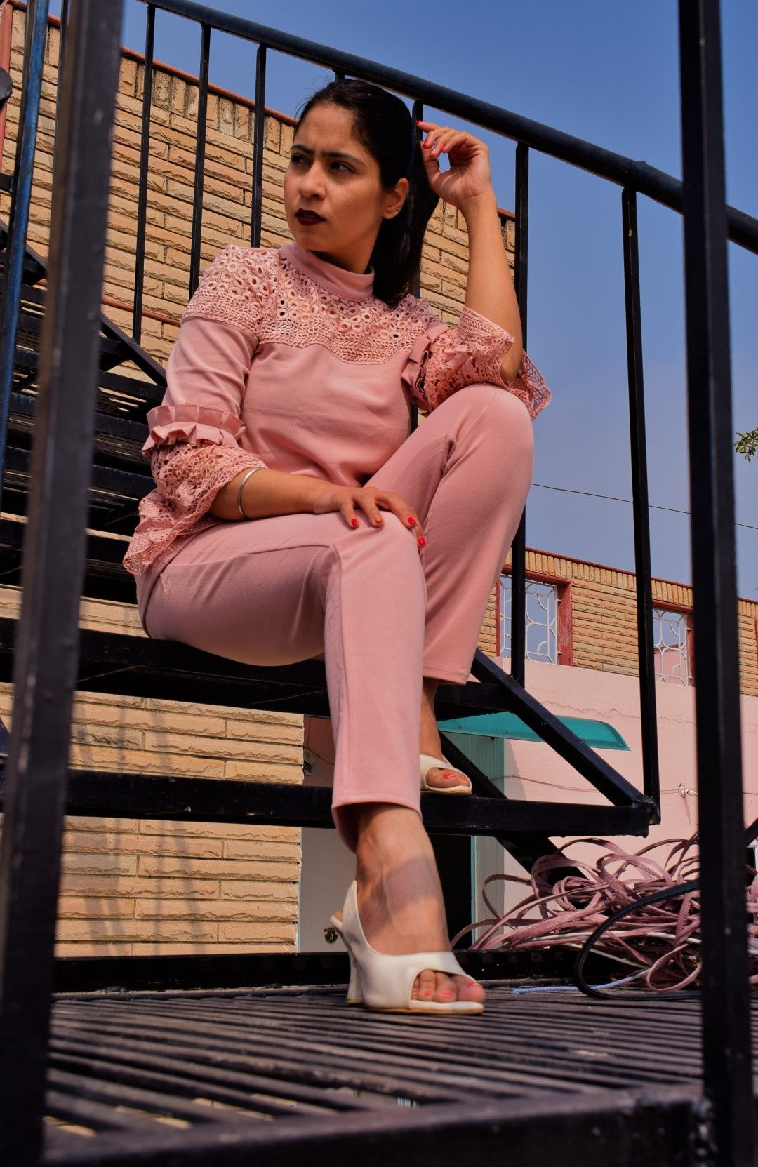 pink co-ord set