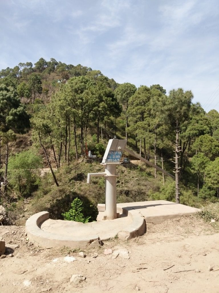 hand pump in mountains