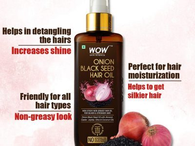 Wow Skin Science Onion Black Seed Hair Oil Review