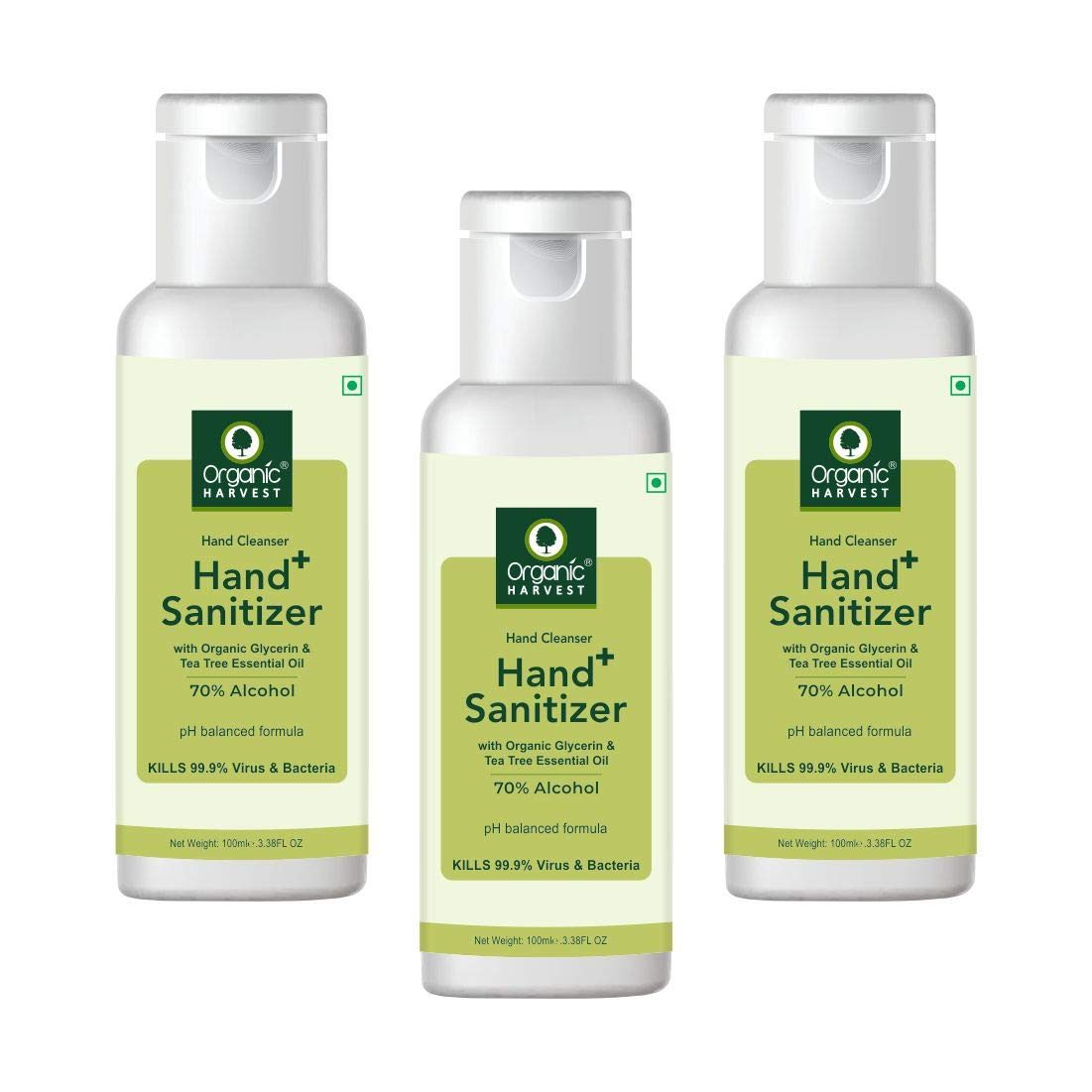 Organic Harvest Instant Anti - Bacterial Gel Hand Sanitizer & Hand Cleanser