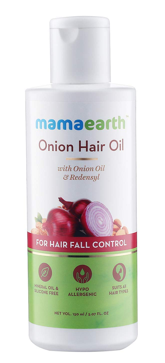 mamaearth onion hair oil review.