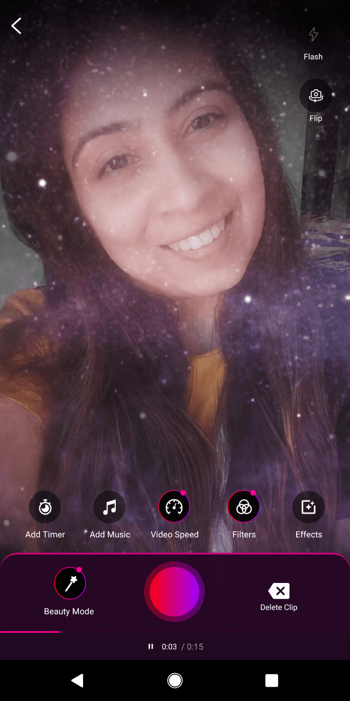 Zee5 HiPi sparkle filter